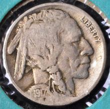 1915, 16 & 17 Buffalo Nickels