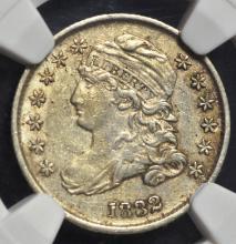 1832 Bust Dime AU Details NGC