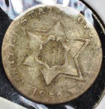 1857 Silver 3 Cent Piece