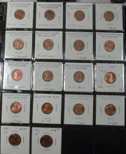 Sheet of Misc Lincoln Cents