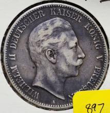 1903a Prussian 5 Mark Silver