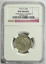 1932-S Washington Quarter Fine Details NGC