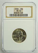 1939 Washington Quarter MS-66 NGC