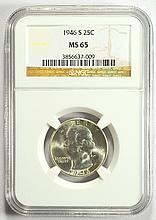 1946-S Washington Quarter MS-65 NGC