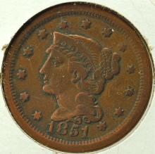 1851 US Large Cent