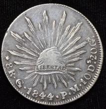 1844 Mexico Silver 8 Reales