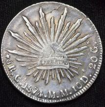 1874 Mexico Silver 8 Reales