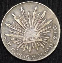 1886 Mexico Silver 8 Reales