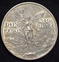 1921 Mexican Silver 2 Peso