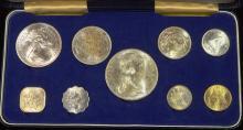1966 Bahama 9 Coin Mint Set