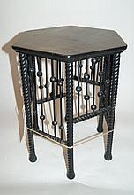 Victorian Ebonized Stick and Ball Plant Stand