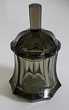 American Smoked Glass Dresser Jar