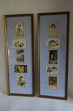 Pair of Framed Victorian Greeting Card Plaques