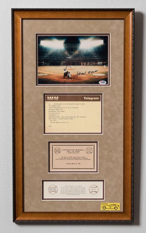 Hank Aaron 715th Home Run Telegram