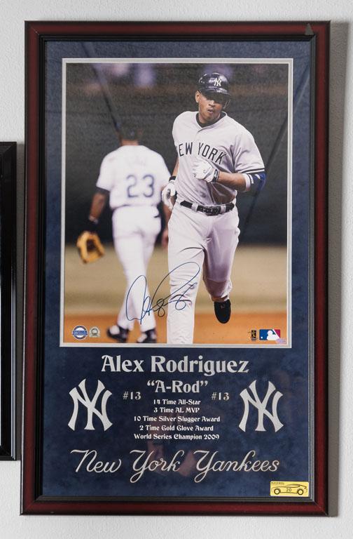 Alex Rodriguez Signed Photo