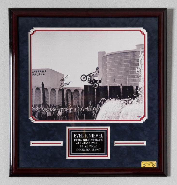 Evel Knievel Signed Photo