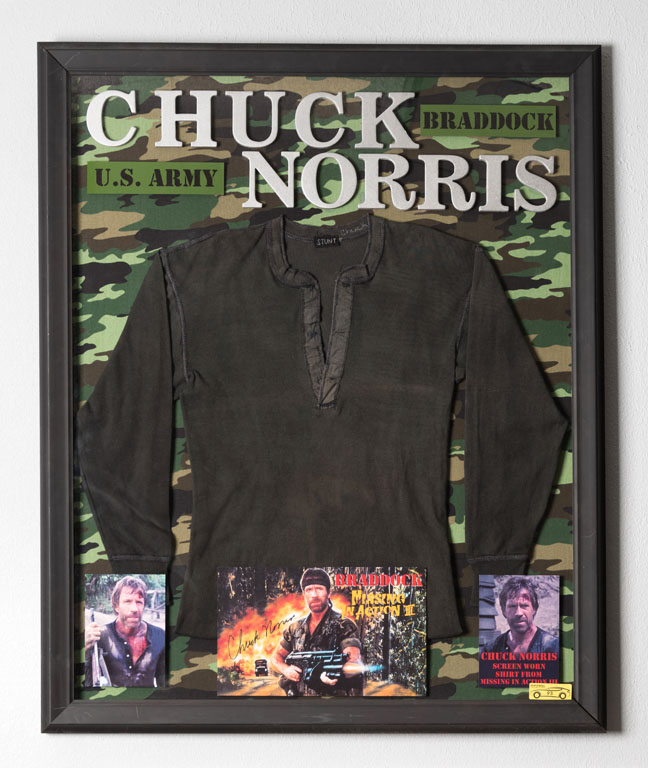 Chuck Norris Screen-Worn Shirt and Memorabilia