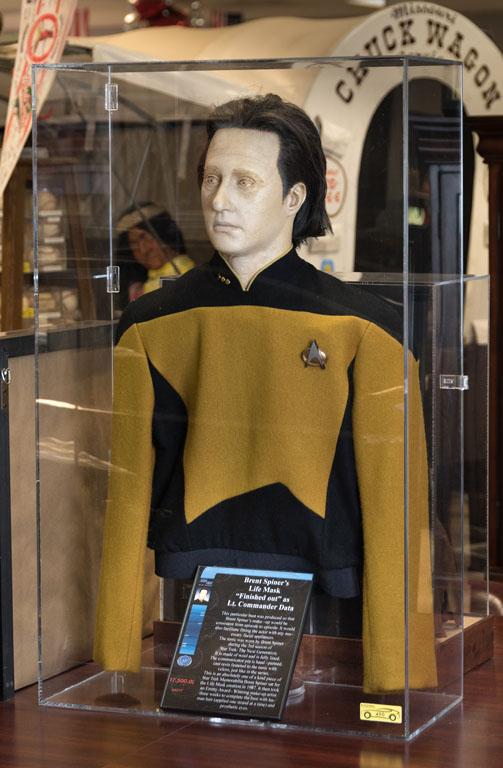 Brent Spiner's Life Mask as Lt. Commander Data, Star Trek, With Costume