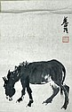 Chinese Ink Painting on Paper Manner of Li Quchan