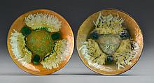 (2) Edward Star Enamel Copper Plates