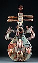 Chinese Jade Carving of Stringed Instrument with Animals