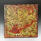 Signed Jackson Pollock Oil Painting On Card Table 1940's