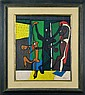 Bears the Signature Fernand Leger Oil Painting on Panel