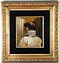 After Alphonse Maria Mucha Oil Painting on Board