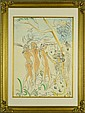 Bears the Signature Salvador Dali Ink & W.C. on Paper