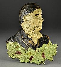 Antique Cast Iron and Polychrome Painted Memorial
