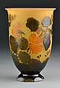 Galle Cameo Amber Glass Vase