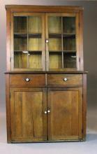 American Pine Step-Back Cupboard