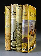 (4) Early Zane Grey Novels & Biography With Dust Jackets