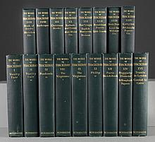 17 Volumes Of The 1911 The Works Of Thackeray