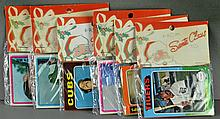 (6)1970s Unopened Packages Of Baseball & Football Cards