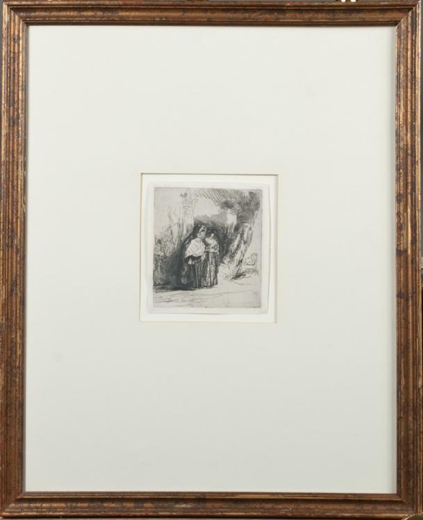 Pierre-Francois Basan After  Rembrandt Etching