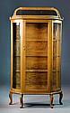 Victorian Oak Curio Cabinet
