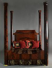 Flame Mahogany Four Poster Bed