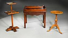 (3) Wood Serving Trays and Stands