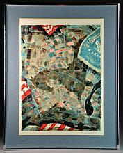 "Emil Weddige ""Homage to JFK"" Lithograph"