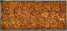 A Massive Finely Carved Anglo-Indian Plaque