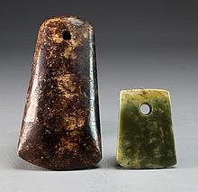 (2) Pcs Han Dynasty Jade
