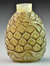 Chinese Qing Carved Jade Snuff Bottle