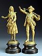 Pr. Antique Spelter Figural Statues