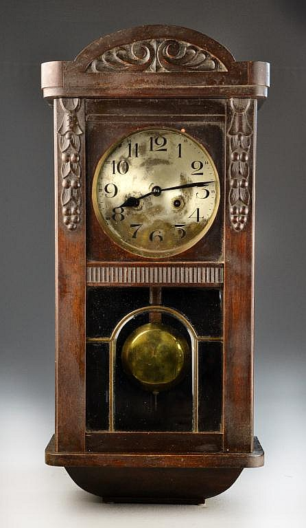 Antique German Pendulum Wall Clock