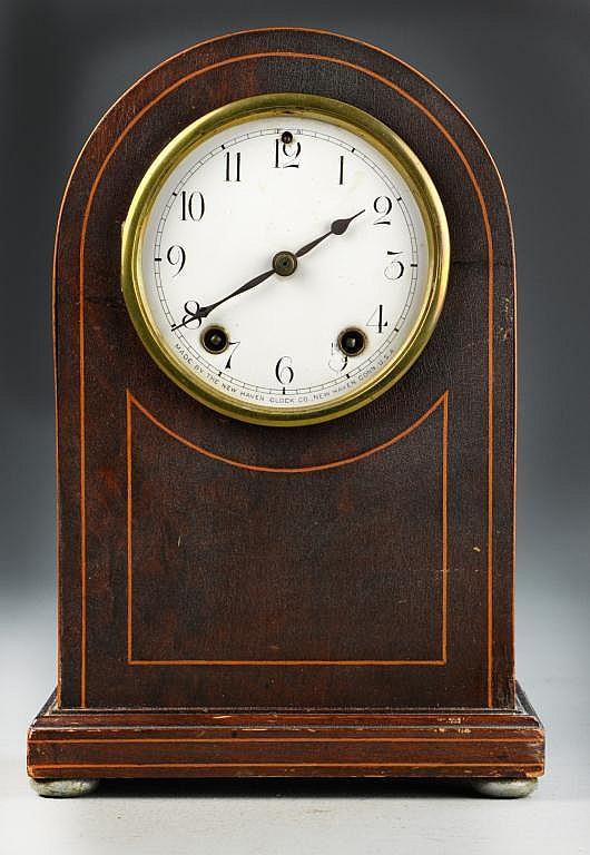 New Haven Mahogany Mantle Clock