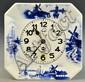 German Delft Porcelain Clock