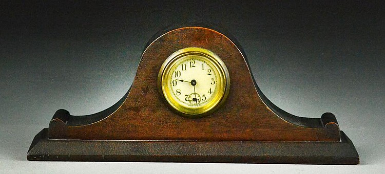 Small Wood Mantle Clock