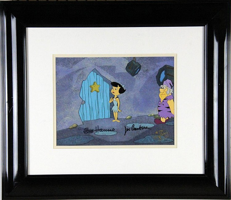Flintstone Signed Hannah-Barbera  Production Cel
