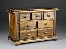 A Walnut Jewelry Box